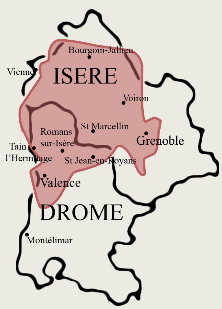 localisation Isère Drôme Saint Marcellin